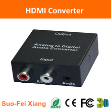 Analog/RCA to Digital Audio amplifier Converter with Toslink Coaxial