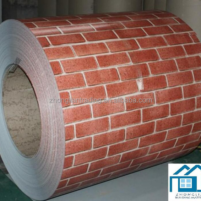 color coated steel coil for wall panel and decorating the house with wood grain