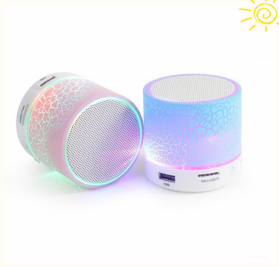 LED Portable Mini Bluetooth <strong>Speakers</strong> Wireless Hands Free <strong>Speaker</strong> With TF USB FM Mic Blutooth Music For iPhone 6 7 s Mobile Phone