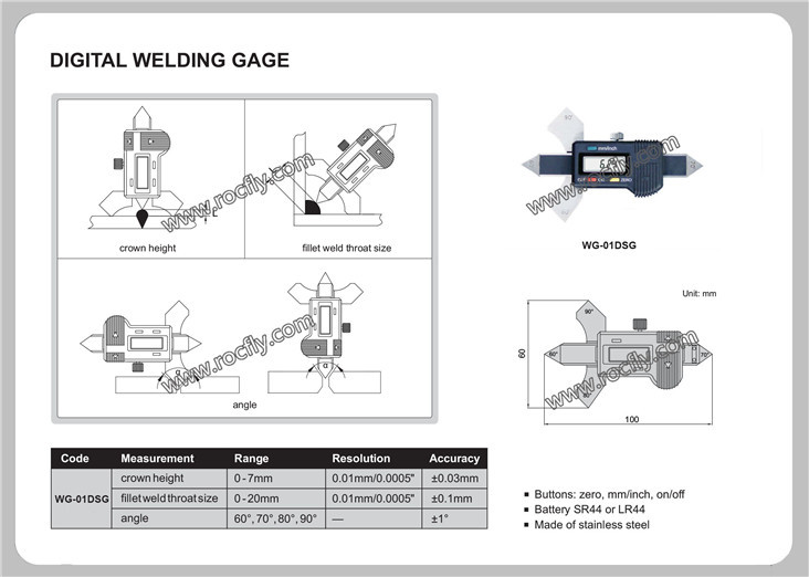 WG-01DG Digital Welding Gauge