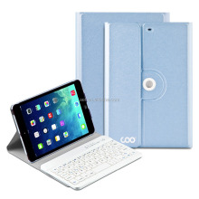 leather cover bluetooth keyboard case for ipad mini 2