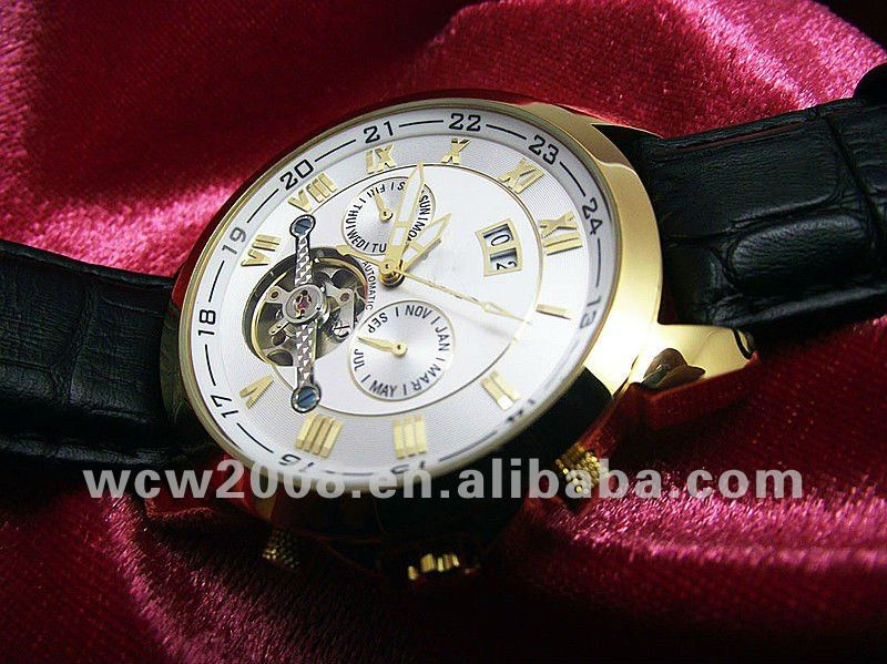 Luxury automatic tourbillon mens watch