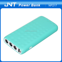 New design good hand-hold flashlight series power bank 6 battery cell powerbank