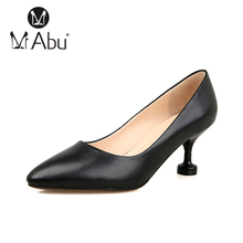 Pointed Stiletto high heel 11cm office jobs lady sexy Leather women shoes