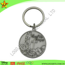 Promotional products gift custom laser logo metal keychain