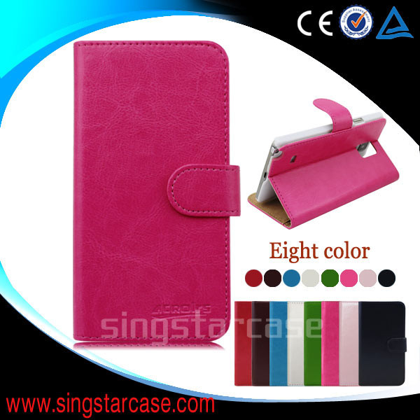 wallet leather flip cover for samsung monte s5620