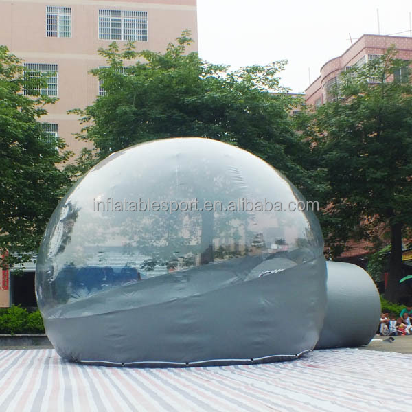 High quality inflatable transparent bubble tent/ inflatable clear tent
