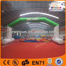 Durable PVC advertising green inflatable entrance arch