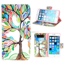 Flap Closure PU leather mobile phone case ,Wallet Stand Dual Layers Protective for iPhone6/6s/6plus case