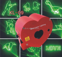 Animation pattern mini laser stage light with heart shape case