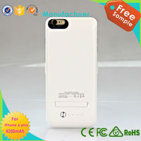 new back-up power case 3800mAh for iphone6, external battery case phone charger 3800mah with stents for iphone6