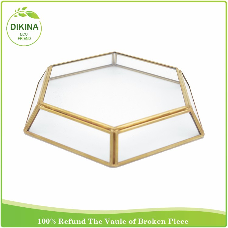 wholesale new decorative Tableware High quality -> many shapes for haxagon square rectangular glass serving trays for weddings