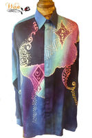 Batik Shirts Hand Painted Long Sleeve for Men
