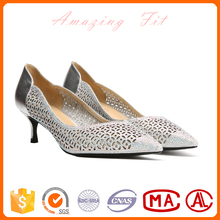 Nice quality stylish pumps silver diamond crystal wedding shoes bridal low heel pumps shoes for women
