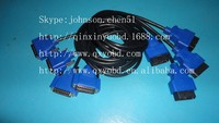 D SUB CONNECTOR 25P MALE AND OBD MALE ,L=1500mm,BLUE OUTTER