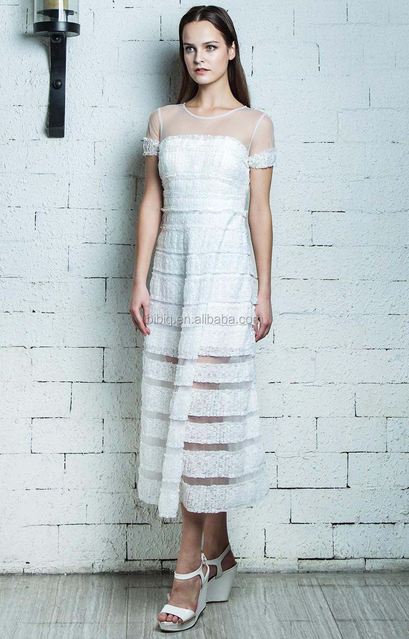 BIBIQ Beaded Women Dresses Elegant Modern Puffy Midi Prom Dress ...