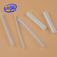 clear plastic fiber optic cable protection sleeve heat shrinkable t bush for fusion splicing