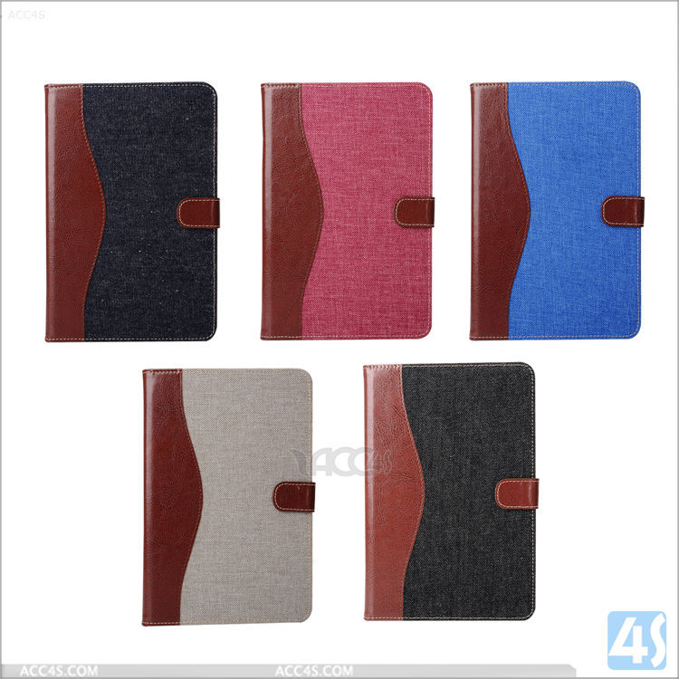 New jeans style unique design wholesale for ipad mini 4 flip case