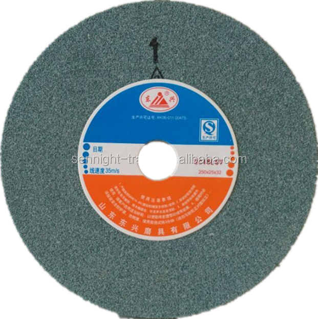 China manufacturer green silicon carbide flat surface grinding wheels for wholesale