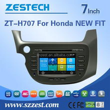 Factory supplier 7'' 800*480 touch screen car dvd player for Honda NEW FIT