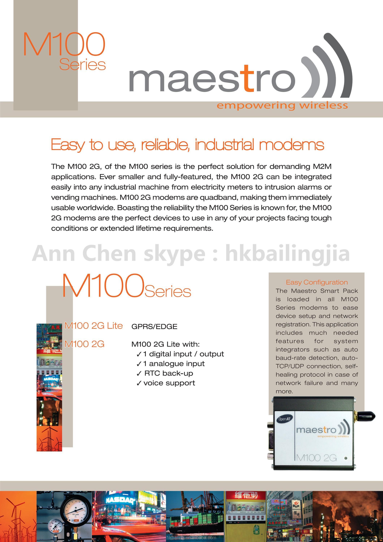 Professional M100 RS232 RS485 industrial Smart pack wavecom maestro 100 gsm modem