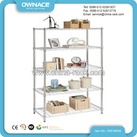 books display steel chrome wire shelving