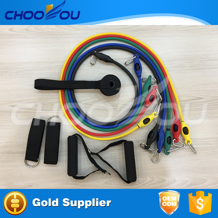 resistance band set with door anchor/resistance band exercise