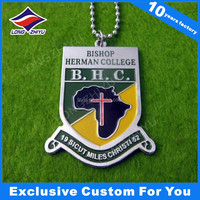 cheapest metal soft enamel custom logo military dog tags