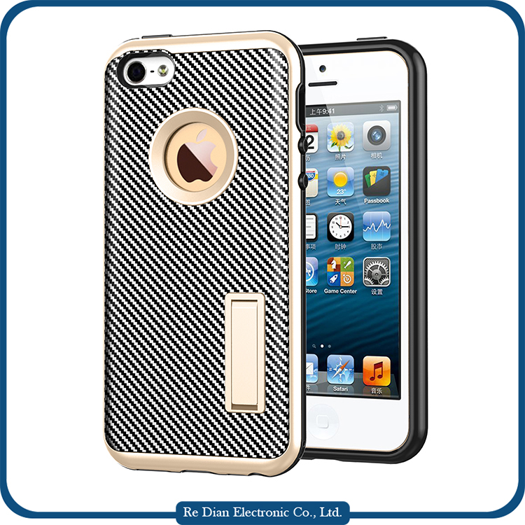 Fashion golden mobile phone accessory case cover for iphone 5/5S/5E