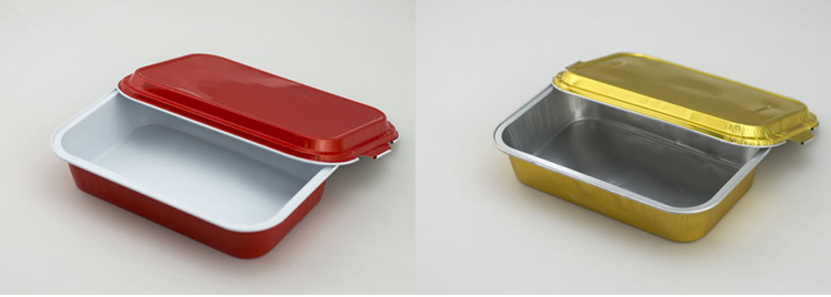 High temperature casserole airline aluminum foil food container for hot meal