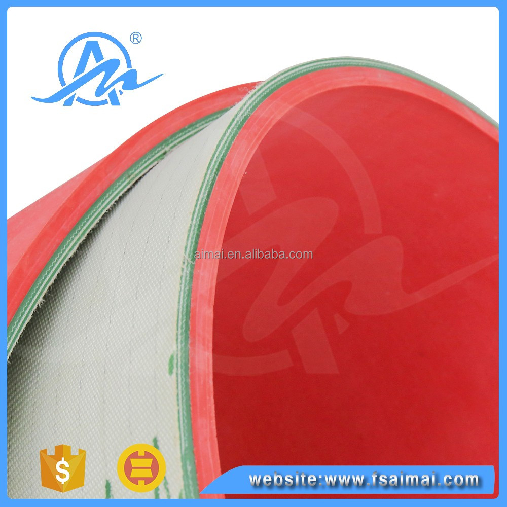 Wholesale heat resistant pvc/pu conveyor Belt with Red Rubber Coating