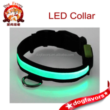 Adjustable LED Fiber Illumination Pet/Dog Collar, Medium, Green