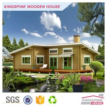 Prefabricated log cabin Two-bedroom Outdoor Kitchen wood house KPL-026