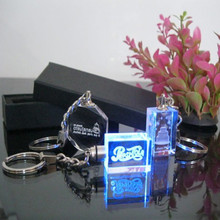 New Fashion Cooperate Gift K9 Crystal Glass Customized Key Chain