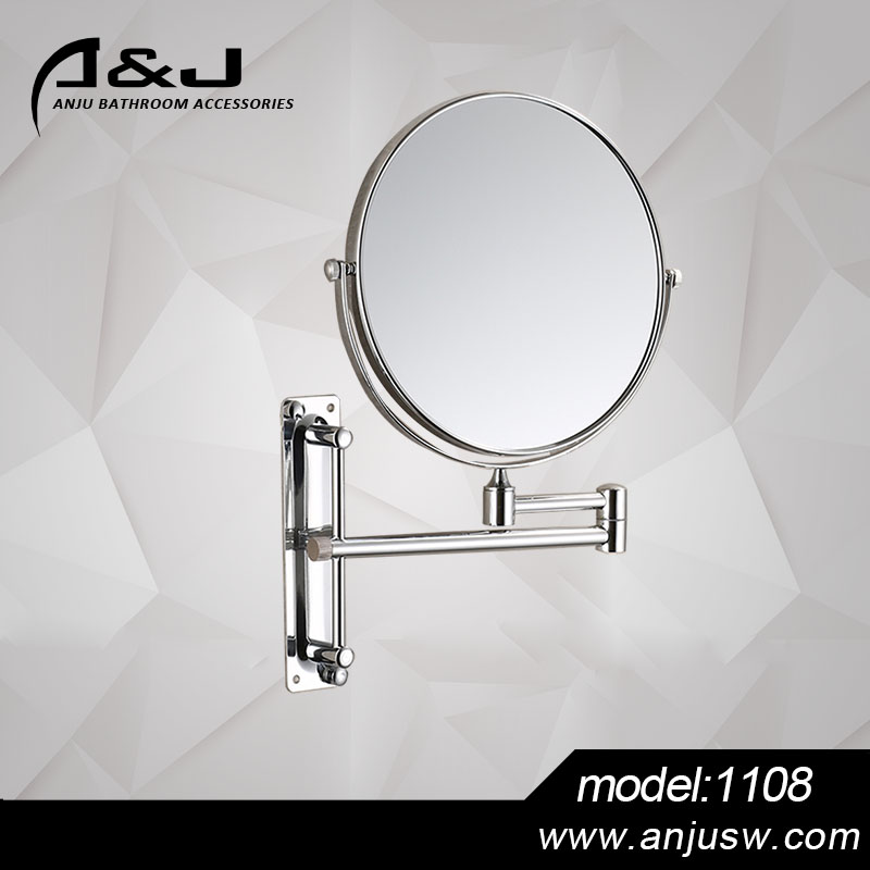 Active Double Side Wall Mounted Shaving Mirror with Light Hotel Style