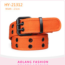 New Arrive fashion men women cotton eyelet webbing fabric belts
