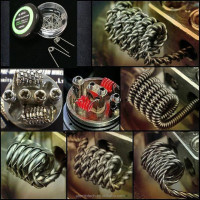 Vape wire wholesale price Pre-built clapton coil vaporizer coil wire Tiger/Alien/Fused clapton wire