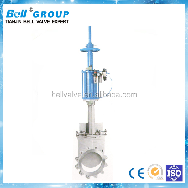 "10"" 150lb SS304 Pneumatic Knife Gate Valve"