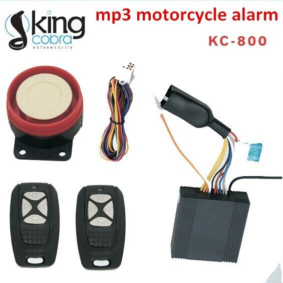 MP3 electronic motorcycle alarm system