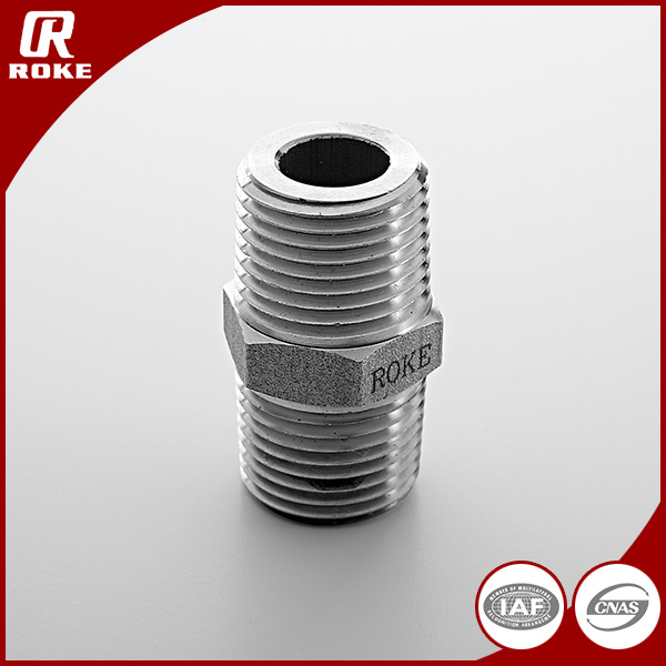 stainless steel extension nipple screwed hydraulic pipe fittings