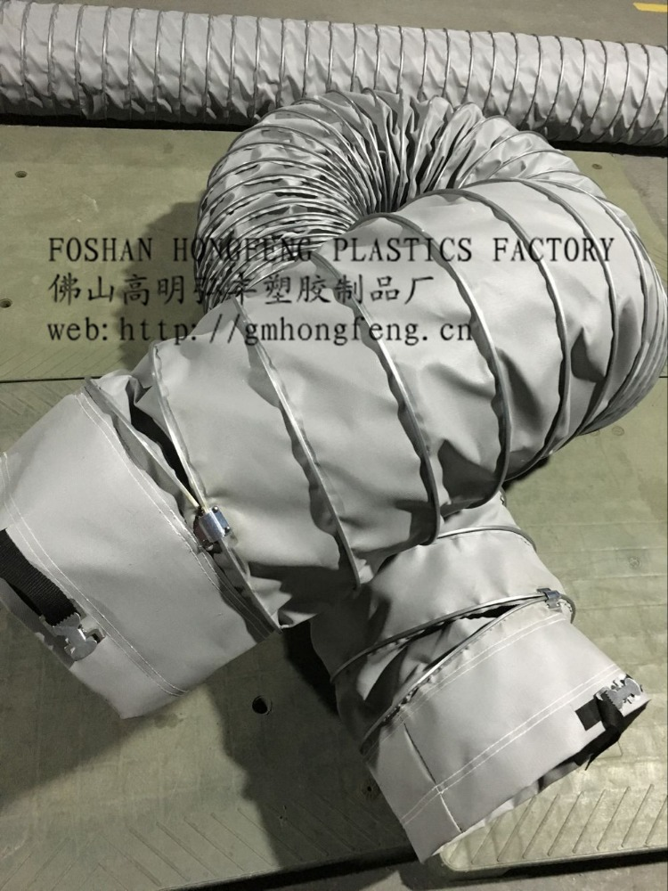 High Tempreture Round Flexible Air Ducting Canvas Duct Hose