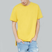 wholesale cotton plain longline latest t shirt designs for men