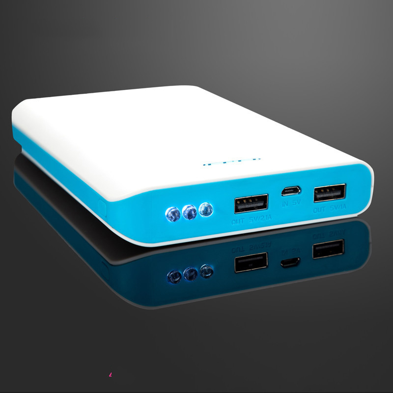 High Capacity ultra thin portable 20000mah power bank with 3 USB port