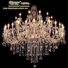 2013 Newest Modern Lighting Hotel Crystal Chandelier Lights with 40 Candle Bulbs MDS01 L28+12 D1500mm H1600mm