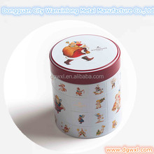 Decorative round tin box, chocolate round can; Christmas round can