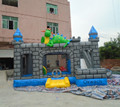 2017 hot commercial inflatable dragon castle bouncer