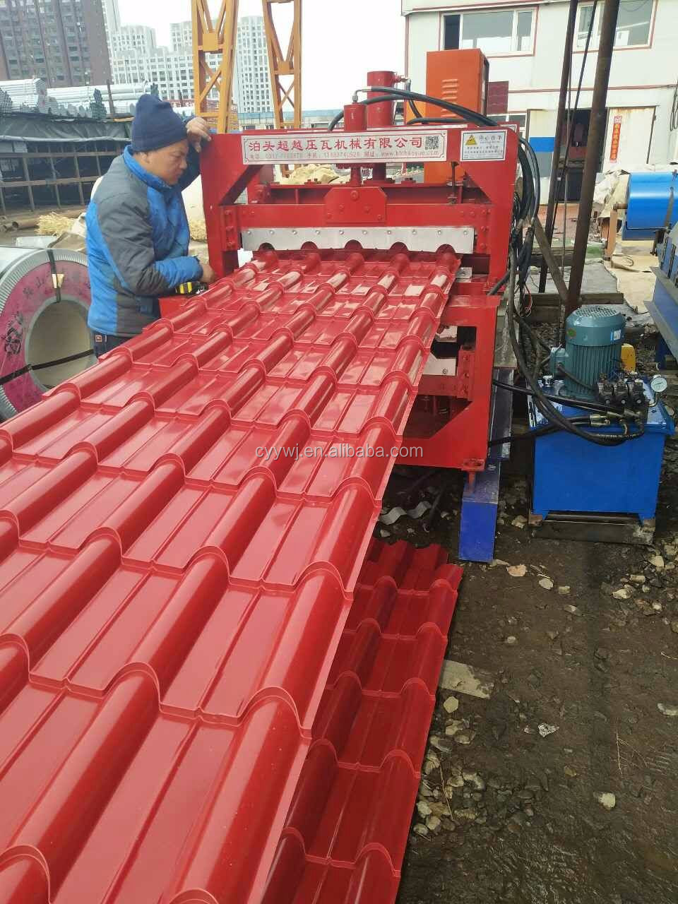 NEW year HOT step roof tile glazed tile roll forming machine for steel roofing