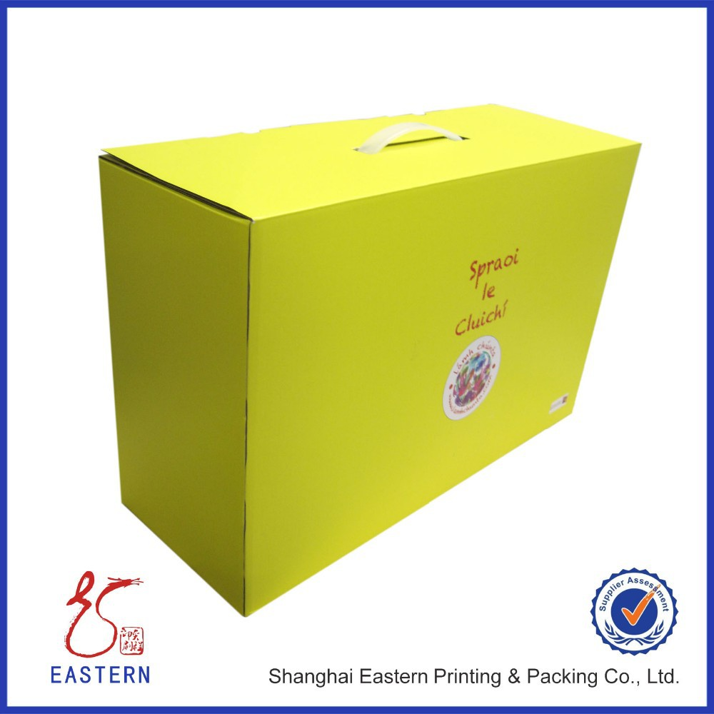 Custom Cardboard With Handle Packaging Gift Box