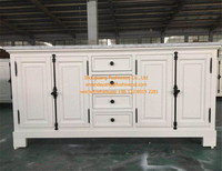 Home Furniture Antique White Paint Soild Wood Bathroom Vanity Cabinet