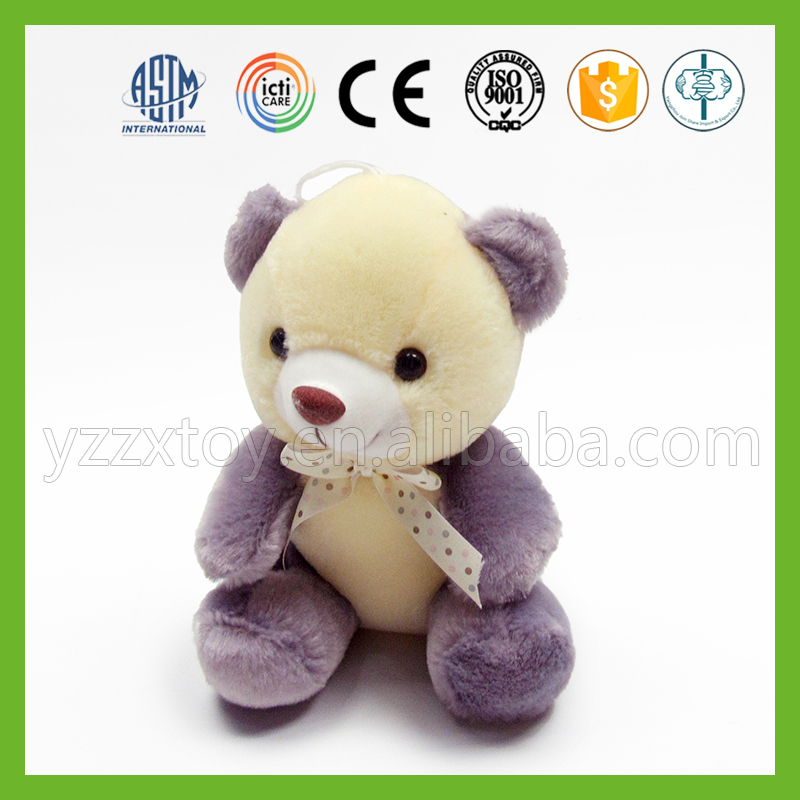 Organic cotton stuffed grey teddy bear toys for baby